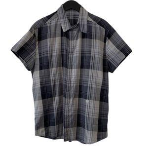 Kris Van Assche check plaid & split collar shirt